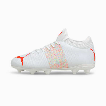 FUTURE Z 4.1 FG/AG Kid's Football Boots, Puma White-Red Blast, small-IND