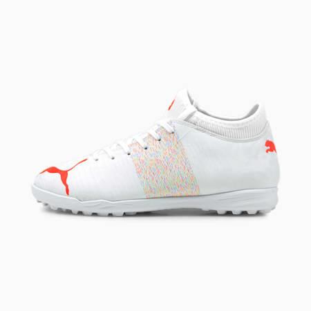 Chaussures de football FUTURE 4.1 TT enfant et adolescent, Puma White-Red Blast, small