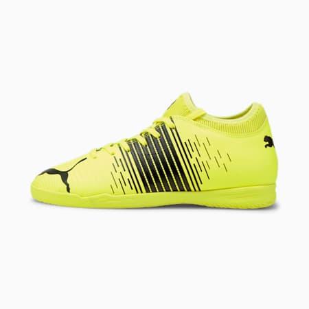 Zapatos de fútbol FUTURE Z 4.1 IT JR, Yellow Alert- Negro- Blanco, pequeño