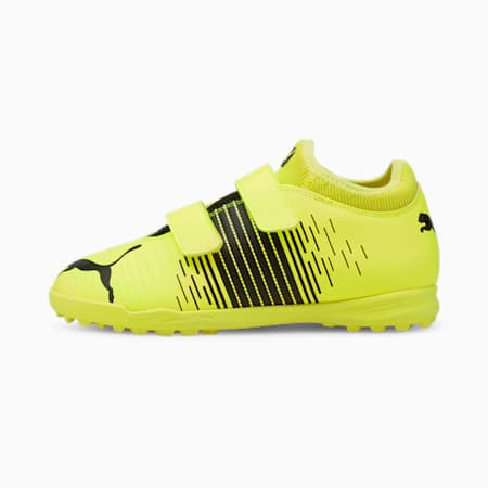Chaussures de football pour gazon synthétique FUTURE Z 4.1 enfant et adolescent, Yellow Alert- Black- White, small