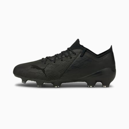 Souliers de soccer à crampons ULTRA 1.2 Lazertouch FG/AG, homme, Noir Puma-noir Puma-argenté, petit