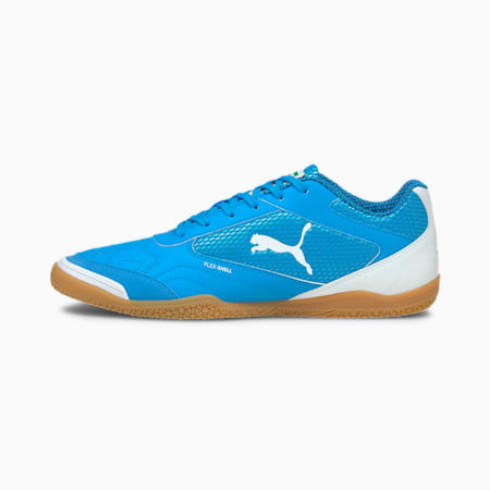 Pressing Futsal Boots, Dresden Blue-Puma White-Gum, small-IND