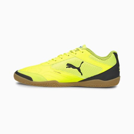Halowe buty piłkarskie Pressing, Yellow Alert-Puma Black-Gum, small