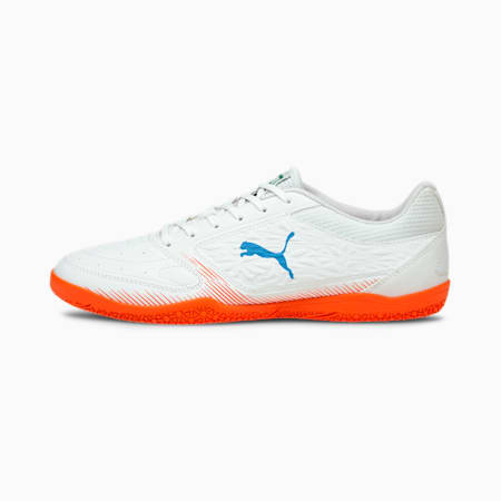 Truco Futsal Shoes, White-Dresden Blue-Orange, small-IND