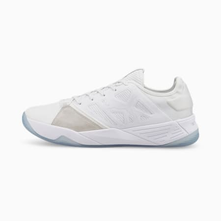 Accelerate Turbo Nitro Handballschuhe, Puma White-Puma White, small