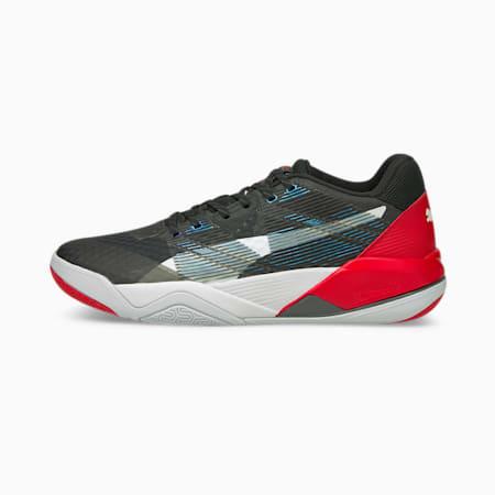 Eliminate Power Nitro Handball Shoes, Puma Black-Puma White-High Risk Red, small
