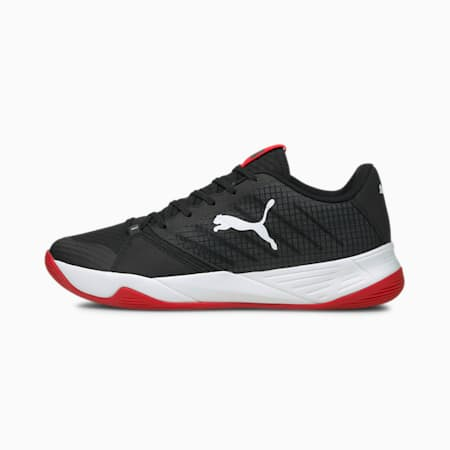 Accelerate Pro Handball Shoes, Puma Black-Puma White-High Risk Red, small