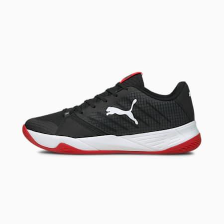 Accelerate Pro Handball Shoes, Puma Black-Puma White-High Risk Red, small-GBR