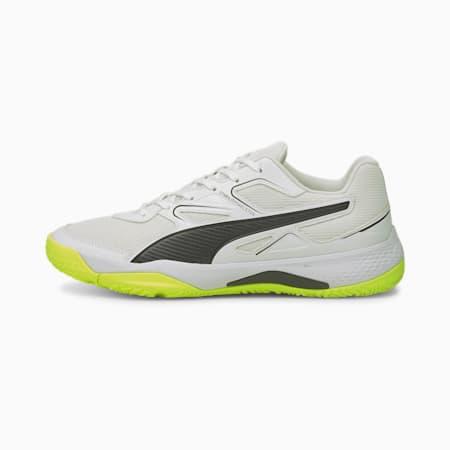 Solarflash Indoor Sports Shoes, Puma White-Puma Black-Yellow Alert, small