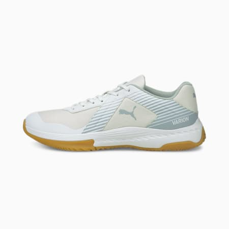 Varion Indoor Sports Shoes, Puma White-Glacial Blue-Gum, small-GBR