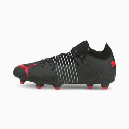 Botines de fútbol Future Z 1.2 FG/AG para hombre, Puma Black-Sunblaze, pequeño