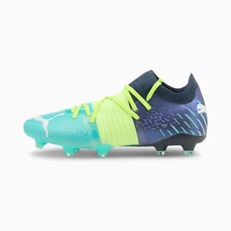 Chaussures de football Future Z 1.2 FG/AG homme, Green Glare-Elektro Aqua-Spellbound, small