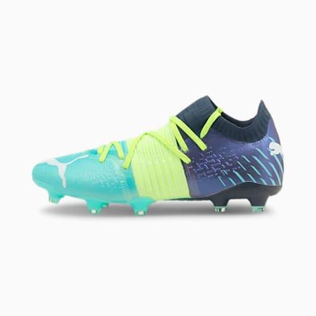 Future Z 1.2 FG/AG Men's Football Boots, Green Glare-Elektro Aqua-Spellbound, small-GBR