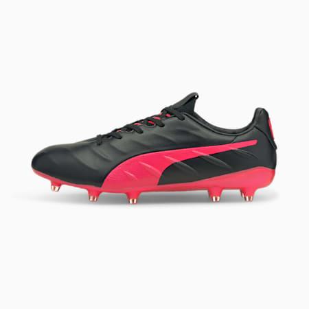 KING Platinum 21 FG/AG Men's Football Boots, Puma Black-Sunblaze, small