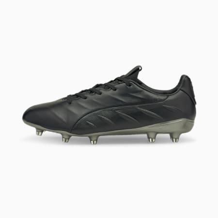 KING Platinum 21 FG/AG Men's Football Boots, Puma Black-Puma Black, small-GBR