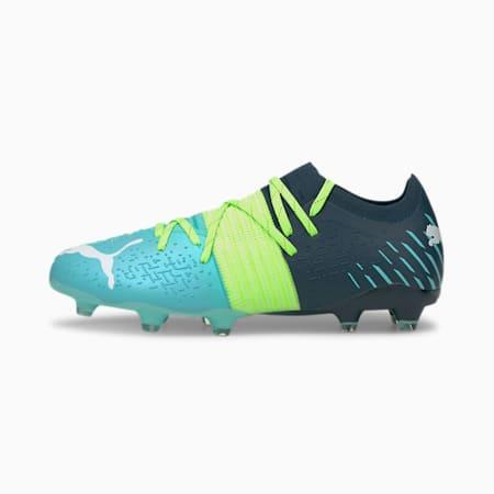 Future Z 2.2 FG/AG Men's Football Boots, Green Glare-Elektro Aqua-Spellbound, small