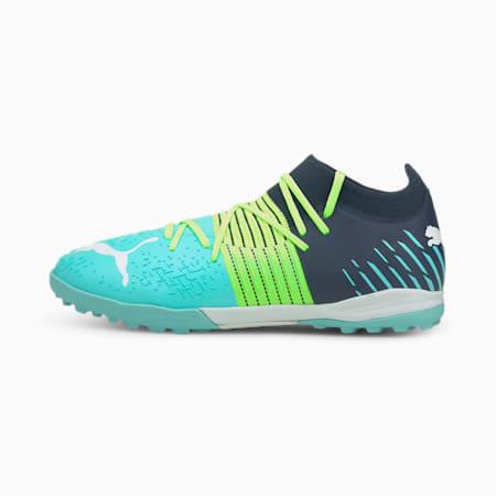 Future Z 3.2 TT Men's Football Boots, Green Glare-Elektro Aqua-Spellbound, small