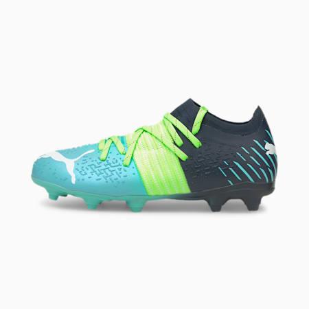 Młodzieżowe buty piłkarskie Future Z 3.2 FG/AG, Green Glare-Elektro Aqua-Spellbound, small