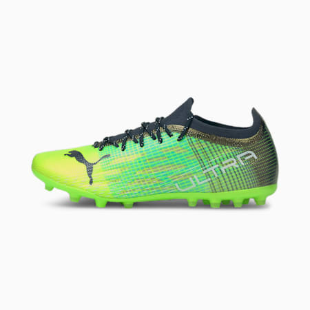 Chaussures de football ULTRA 1.3 MG homme, Green Glare-Elektro Aqua-Spellbound, small