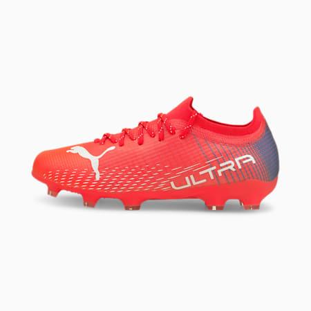 Młodzieżowe buty piłkarskie ULTRA 2.3 FG/AG, Sunblaze-Puma White-Bluemazing, small