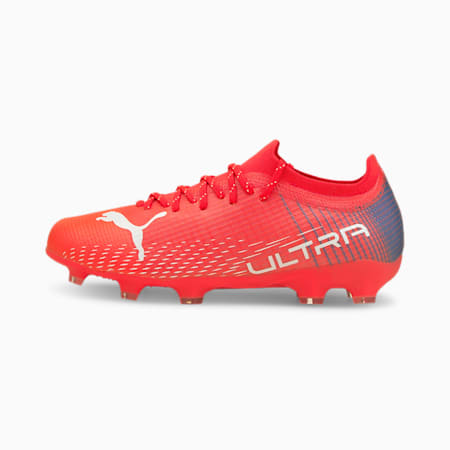 Chaussures de football ULTRA 2.3 FG/AG enfant et adolescent, Sunblaze-Puma White-Bluemazing, small