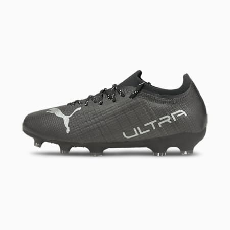 Botines de fútbolULTRA2.3FG/AGJR, Puma Black-Puma Silver-Asphalt, pequeño