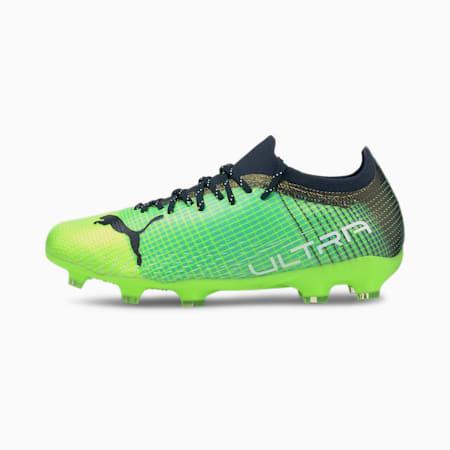 Młodzieżowe buty piłkarskie ULTRA 2.3 FG/AG, Green Glare-Elektro Aqua-Spellbound, small
