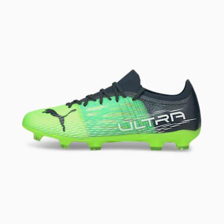 Souliers de soccer à crampons ULTRA 3.3 FG/AG, homme, Green Glare-Elektro Aqua-Spellbound, petit