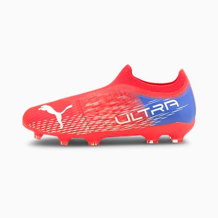 ULTRA 3.3. FG/AG Youth Football Boots, Sunblaze-Puma White-Bluemazing, small
