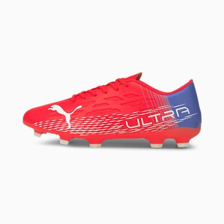 ULTRA 4.3 FG/AG Men's Football Shoes, Sunblaze-Puma White-Bluemazing, small-IND