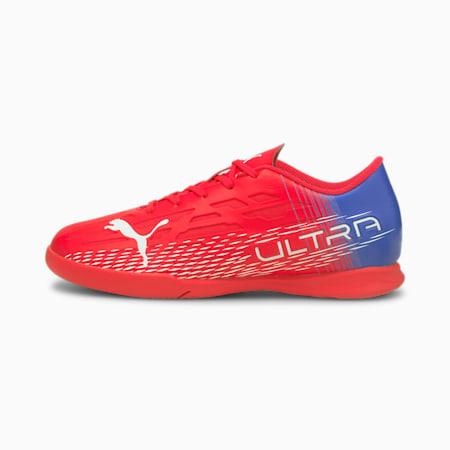 Botas de fútbol juveniles ULTRA 4.3 IT, Sunblaze-Puma White-Bluemazing, small