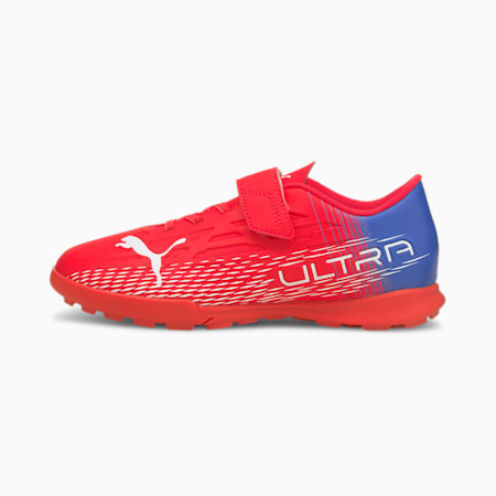 Scarpe da calcio ULTRA 4.3 TT V Youth, Sunblaze-Puma White-Bluemazing, small