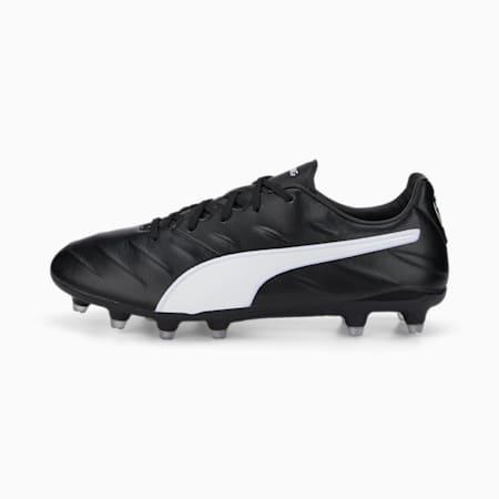 King Pro 21 FG Football Boots, Puma Black-Puma White, small-GBR