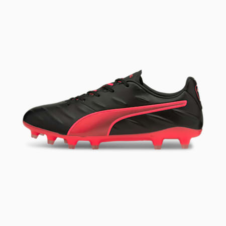 King Pro 21 FG Football Boots, Puma Black-Sunblaze, small