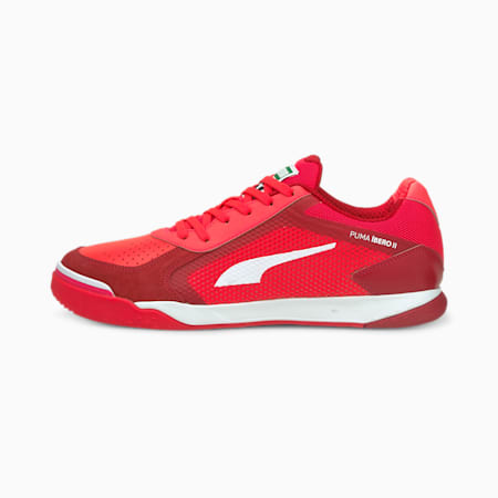 IBERO II Unisex Football Boots, Sunblaze-Puma White-Urban Red, small-IND