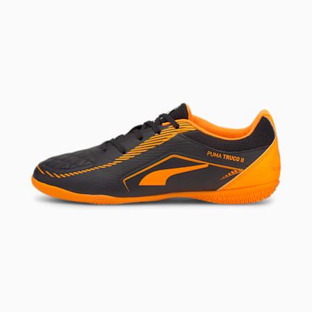 TRUCO II Kid's Football Shoes, Puma Black-Orange Glow, small-IND