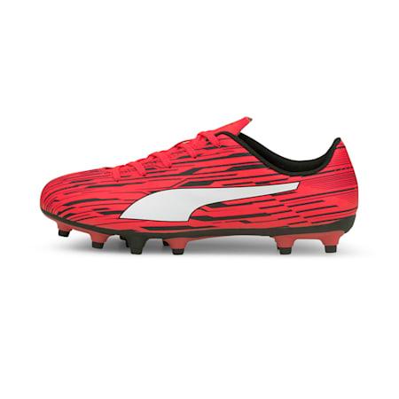 Botines de fútbol Rapido III FG/AG JR, Sunblaze-Puma White-Puma Black, pequeño