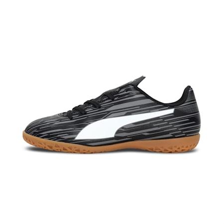 Rapido III IT Kid's Football Boots, Puma Black-Puma White-CASTLEROCK, small-IND