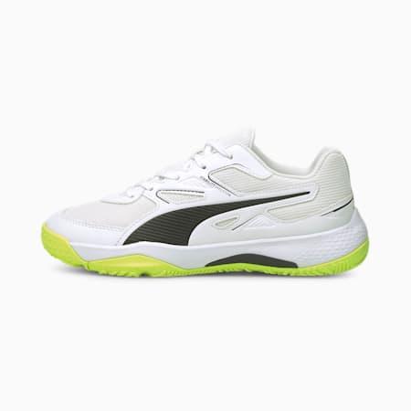 Solarflash Youth Indoor Sports Shoes, Puma White-Puma Black-Yellow Alert, small-GBR