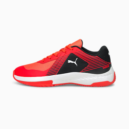 Varion Youth Indoor Sports Shoes, Red Blast-Puma White-Puma Black, small-GBR
