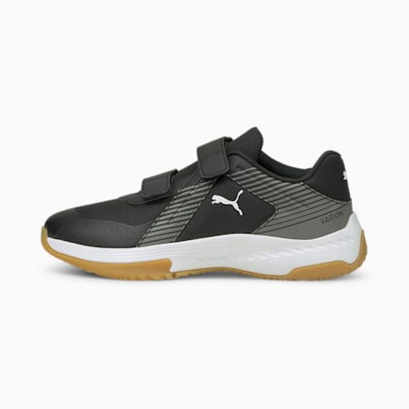 Varion V Youth Indoor Sports Shoes, Puma Black-Ultra Gray-Gum, small-GBR