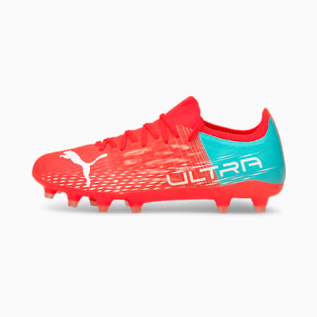 ULTRA 3.3. FG Women's Football Boots, Sunblaze-Puma White-Elektro Aqua, small
