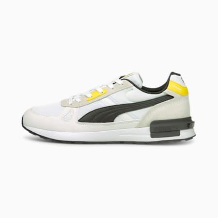 Zapatos de fútbol BVB Graviton Pro, Puma White-Puma Black-Cyber Yellow, pequeño