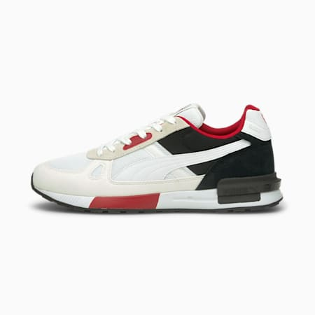 Botines de fútbol AC Milan Graviton Pro, Puma White-Puma Black-Tango Red, pequeño