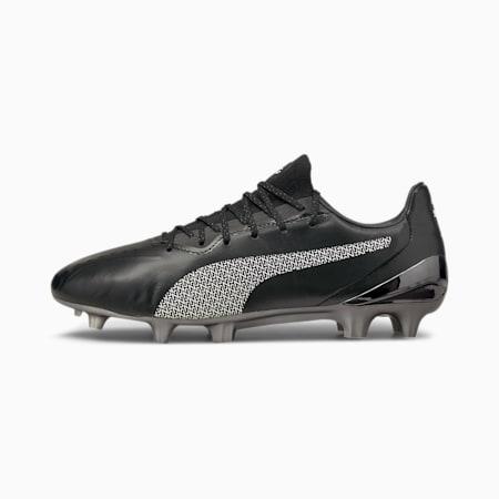 King Platinum Neymar Jr. FG/ AG Men's Soccer Cleats, Puma Black-Puma White, small