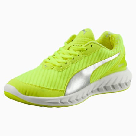 IGNITE Ultimate PWRCOOL Women's Running Shoes, safety yellow-puma silver, small-IND