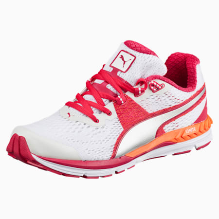 Speed 600 IGNITE Women's Running Shoes, white-rose red-puma silver, small-IND