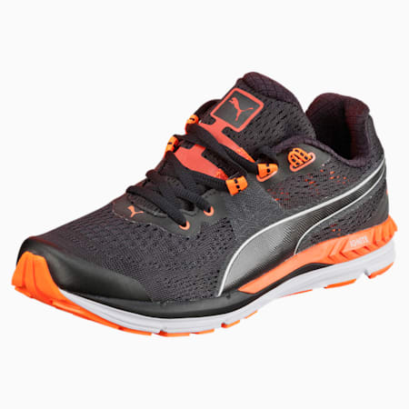 Speed 600 IGNITE Women's Running Shoes, black-periscope-fluo peach, small-IND