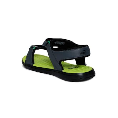 Cydon Sports Sandals, Dark Shadow-Limepunch, small-IND