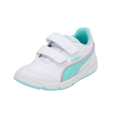 Stepfleex FS SL V PS Kids' Shoes, Puma White-ARUBA BLUE, small-IND